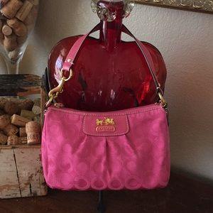 NWOT Coach deep rose small purse
